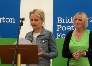 04 Sarah Stutt, winner of E Riding Prize with judge Jean Sprackland