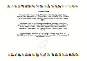 Library Toad Invite