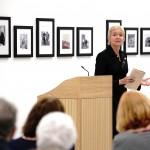 Rosie Millard speaking at Philip Larkin exhibition